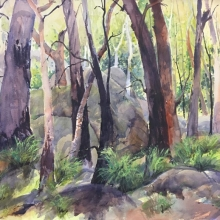 04 Bushland Shadows Here and There Exhib Julie Simmons