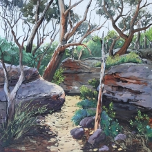 21 The Bush Track Here and There Exhib Julie Simmons
